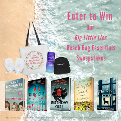 One lucky winner will receive a  bundle of books and beach swag, perfect for fans of Big Little Lies, including a copy of Big Little Lies worth nearly $200!