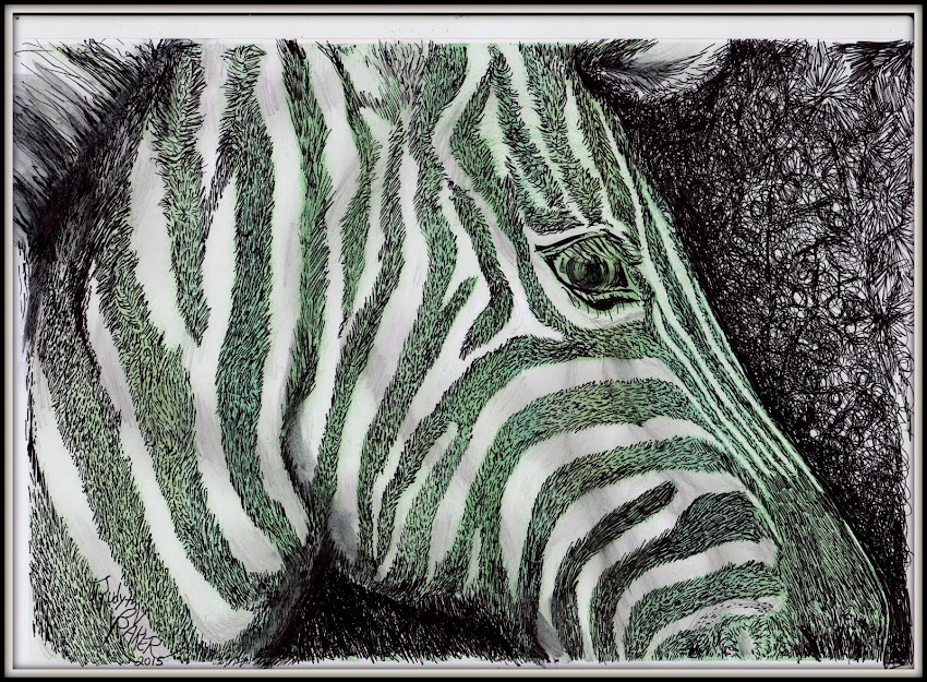 """Zebra""  Buy Judyth's Art & Help the Cause!"