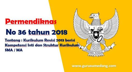 Struktur Kurikulum 2013 SMA/MA Revisi 2018