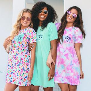 Monogrammed T-Shirt Dresses
