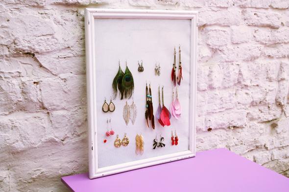 luhyblog d i y cadre bijoux. Black Bedroom Furniture Sets. Home Design Ideas