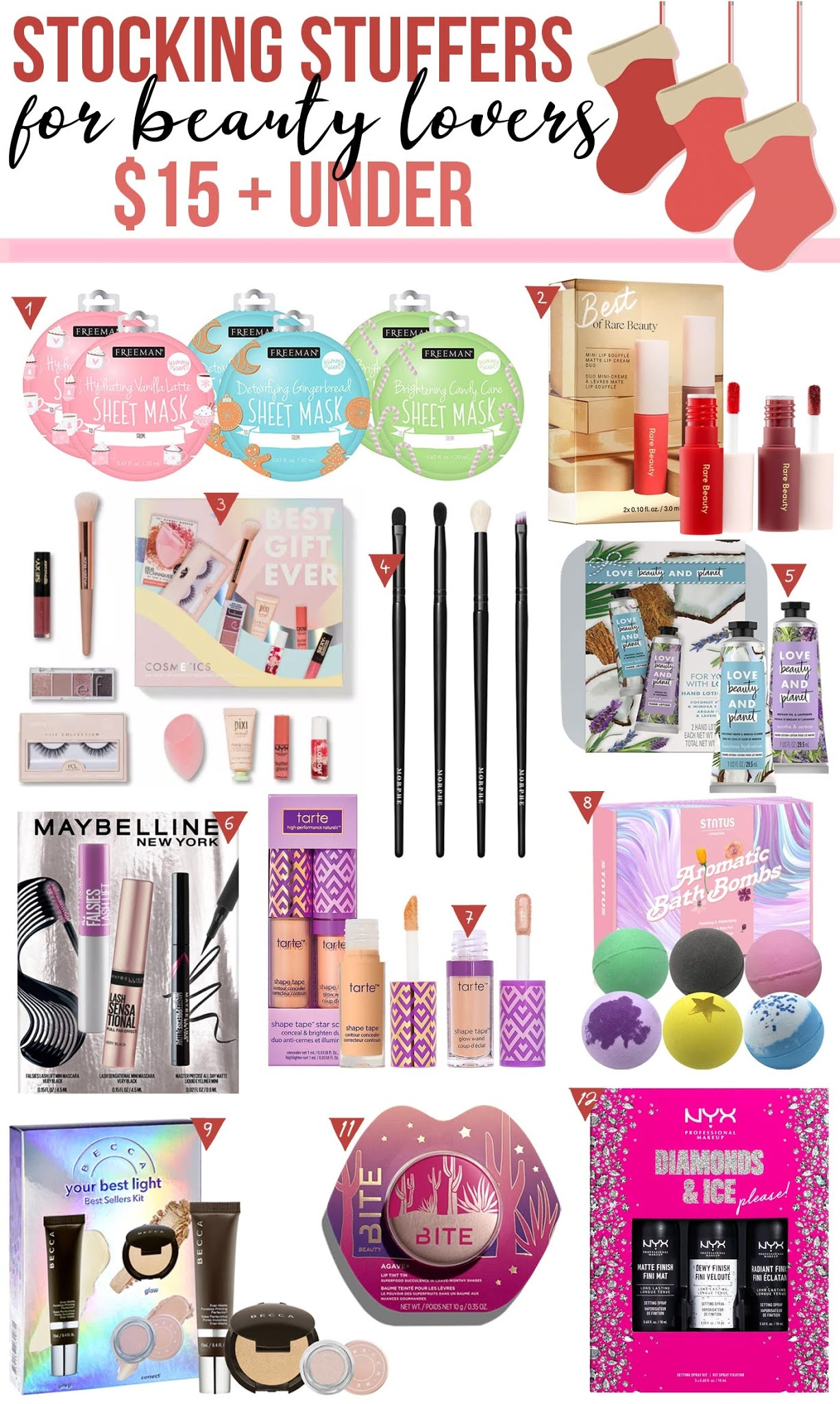 Amazon 11 Beauty Stocking Stuffers $15 and Under Gift Guide