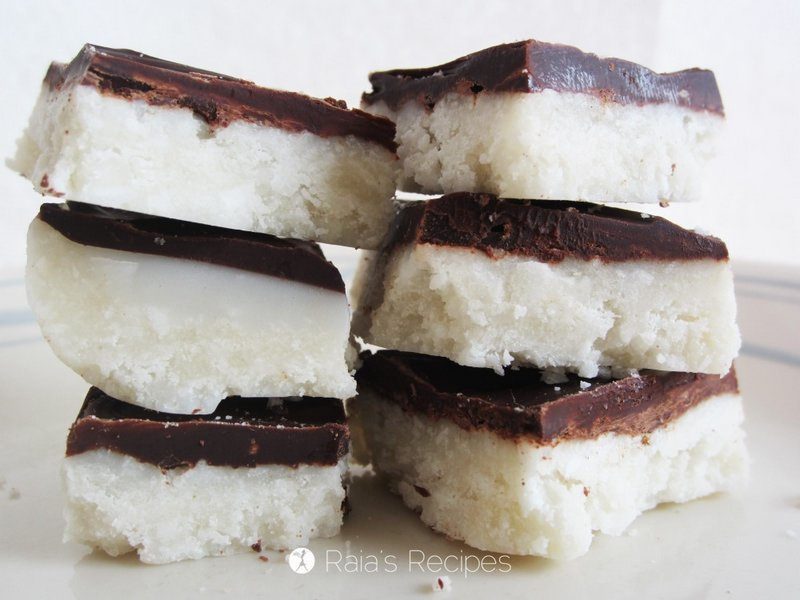 Chocolate Coconut Bars from Raia's Recipes