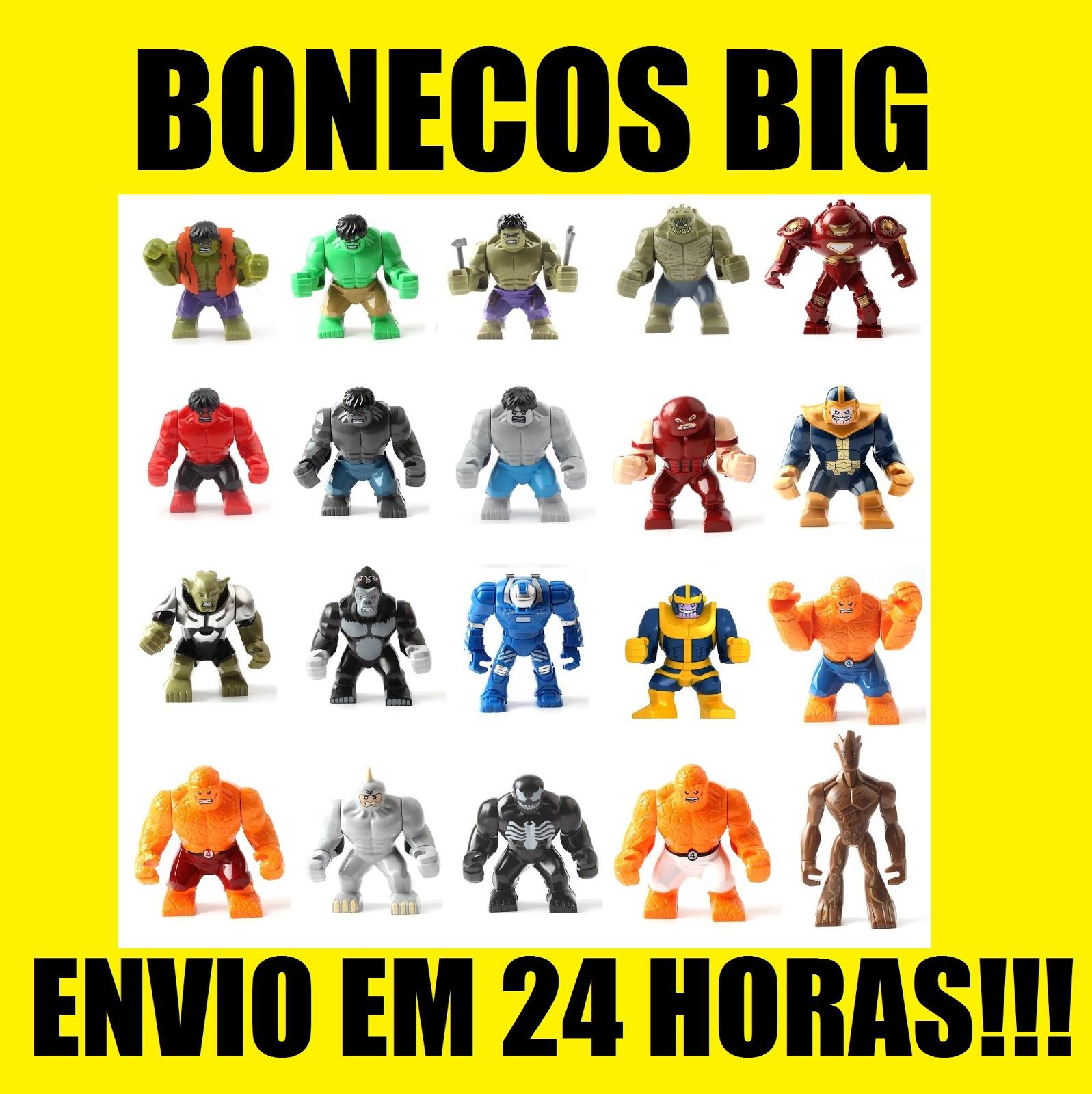 BONECO LEGO TAMANHO GRANDE BIG