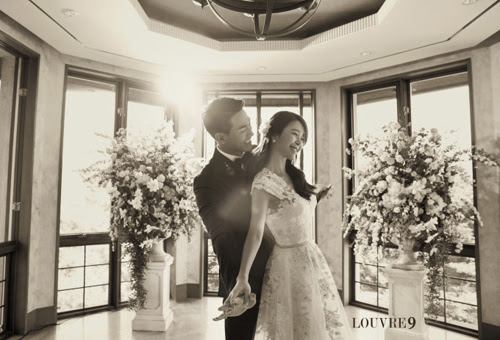 Happy couple Baek Ji Young and Jung Suk Won release wedding pictorial