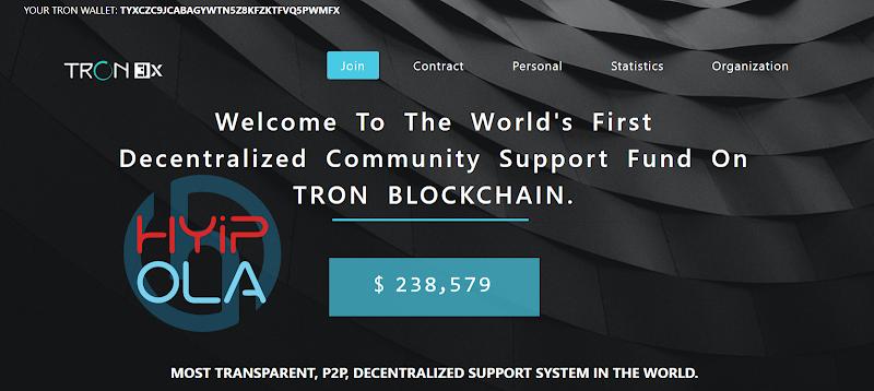 [SCAM] Review Tron3X - Dự án đầu tư gia tăng Coin TRX với lãi 2% hằng ngày - Thanh toán tức thì