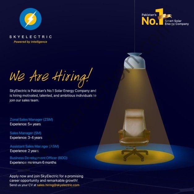 SkyElectric Pvt Ltd Jobs July 2021