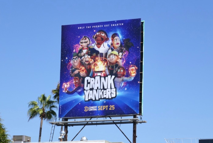 Crank Yankers Comedy Central series billboard