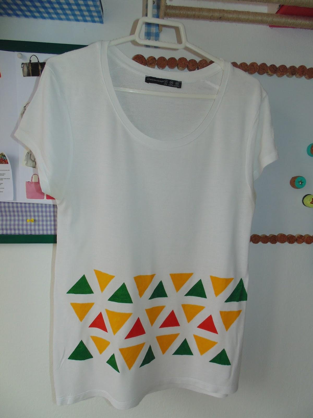 Fefe creative blog de costura y reciclaje diy pintar - Pintura para camisetas ...
