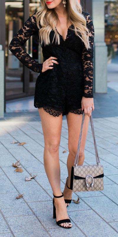 27 Adorable Fall Date Night Outfits Guaranteed to Impress. 27 Stylish Fall Outfits to Wear On Your Next Date, from Casual to Fancy. Fall Fashion via higiggle.com | black lace mini dress | #falloutfits #dateoutfits #datenight #minidress