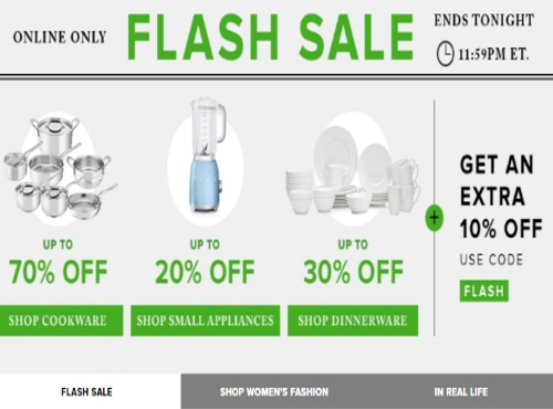 Hudson's Bay Flash Sale Cookware, Small Appliances & Dinnerware + Extra 10% Off Promo Code