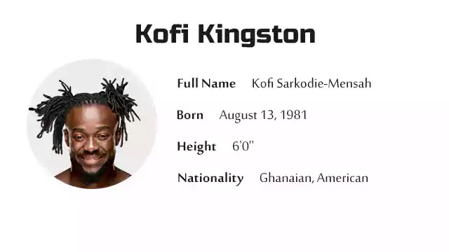 Kofi Kingston Biography History Net Worth And More