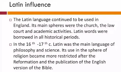 Latin influenced English a great deal. Latin words that were taken over by the English during the old English period may be divided into two categories - those that were taken before Christianity and those that were taken after.