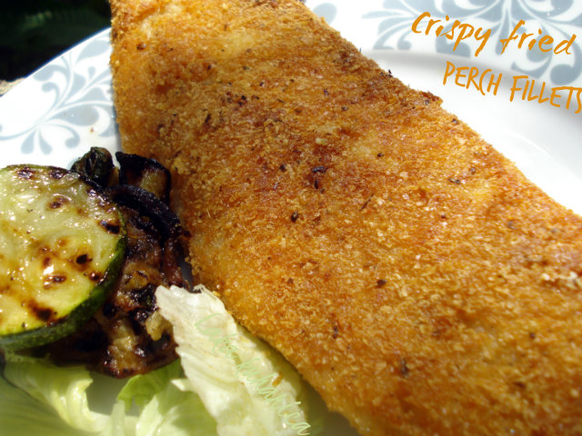 Crispy fried perch fillets by Laka kuharica: coated with potato flakes and Pramesan are crispy and delicious.