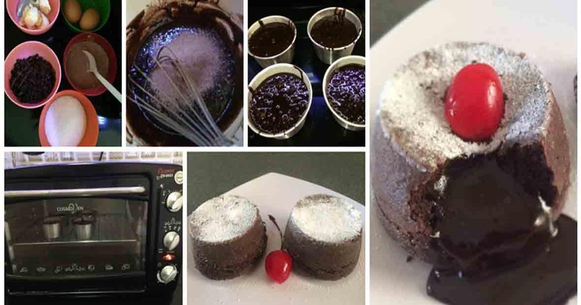 Resep Chocolate Lava Cake Jtt: Resep Chocolate Lava. Lelehan Cokelat Mengkilap Dari Cake