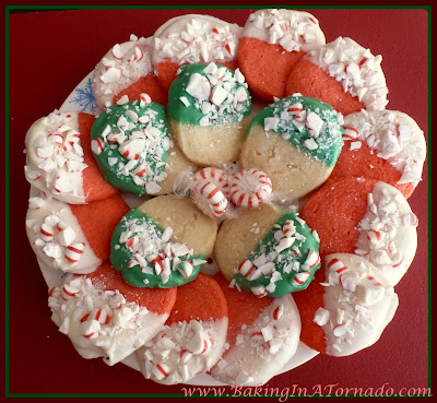 Candy Cane Shortbreads | www.BakingInATornado.com | #recipe #bake