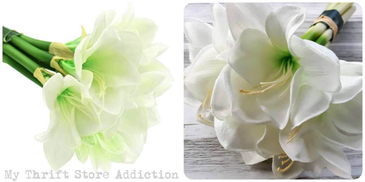 white amaryllis bouquet