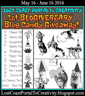 http://lostcoastportaltocreativity.blogspot.com/2016/05/1st-blogiversary-blog-candy-giveaway.html