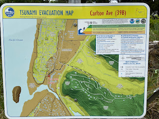 A tsunami evacuation plan in Neskowin.