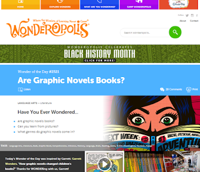 Wonderopolis Screen Capture