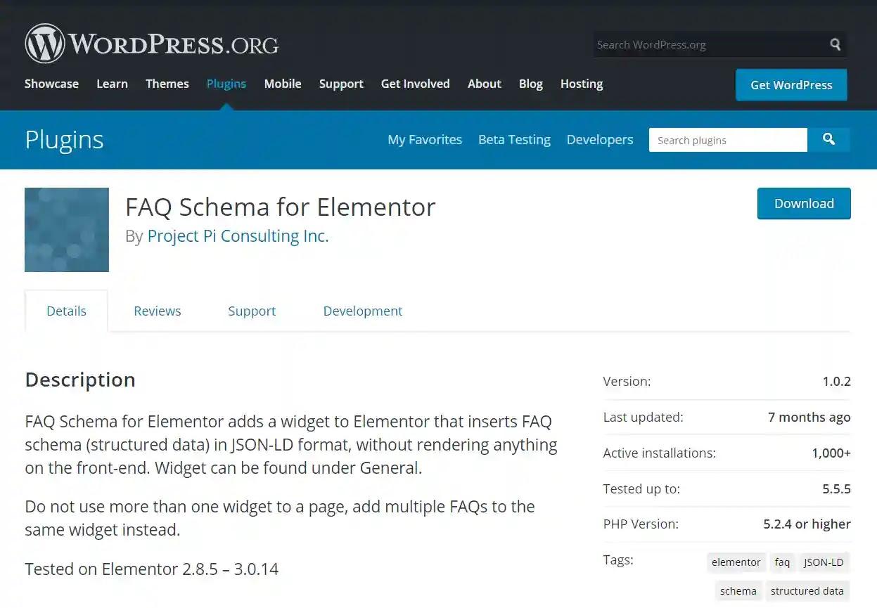 FAQ schema for Elementor