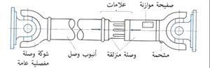 التركيب العام لعمود الكردان في المعدات الثقيلة