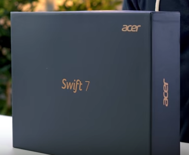 The Acer Swift 7 In Its Box
