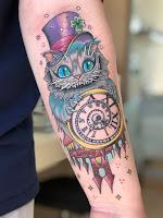 чеширский кот тату