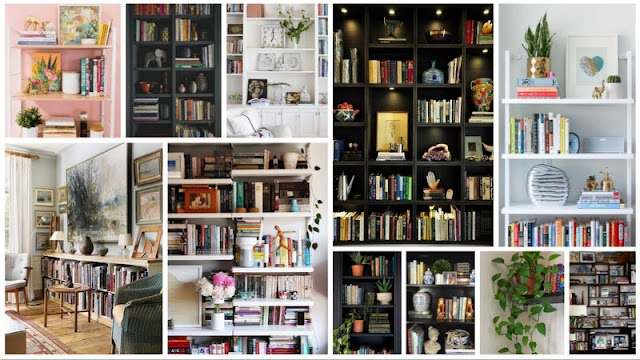 Προτάσεις & τρόποι για να τοποθετήσετε βιβλία & αντικείμενα σε ράφια - βιβλιοθήκες
