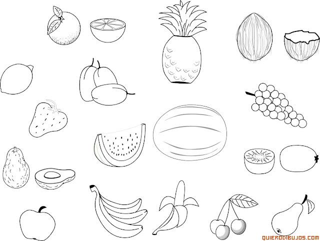 Frutas Y Vegetales En Inglés Para Colorear Imagui