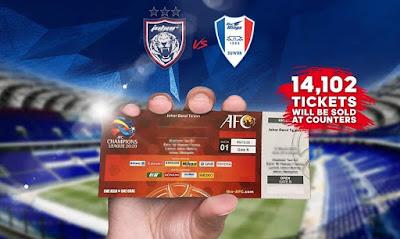 Harga Tiket JDT vs Suwon Bluewings ACL 2020