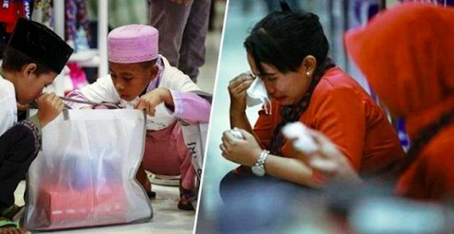 'Viral Kisah Anak Yatim Belanja Baju Lebaran di Mal, Pegawai Menangis Hingga Ada yang Buka Sandal'