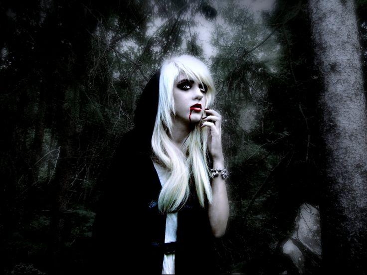Horror Gothic Girl Wallpaper