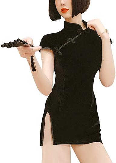 Elegant Mini Cheongsam Qipao Dresses
