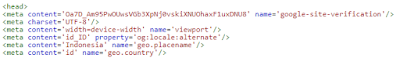 Pemasangan Kode Html Tag Webmaster di Blogger