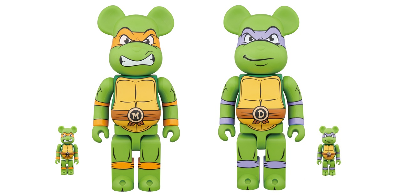 17acfc4789 Teenage Mutant Ninja Turtles Donatello & Michelangelo Be@rbrick Vinyl  Figures by Medicom
