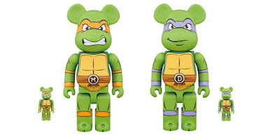 Teenage Mutant Ninja Turtles Donatello & Michelangelo Be@rbrick Vinyl Figures by Medicom