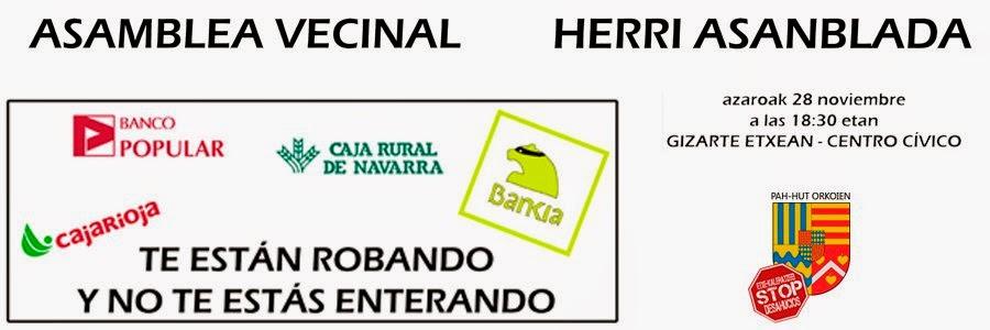 Orkoien esan zerbait asamblea vecinal de pah orkoien para for Hipoteca suelo bankia