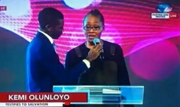 kemi olunloye paid testify ibiyeomie church