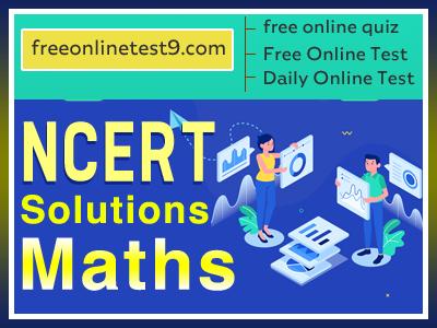 Maths NCERT Solutions 2020