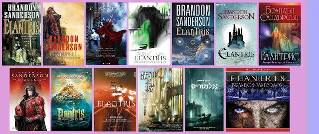 portadas del libro Elantris, de Brandon Sanderson