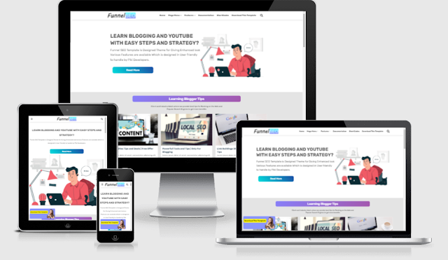 Funnel SEO blogger template free download