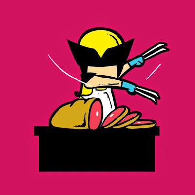 Wolverine como carnicero.