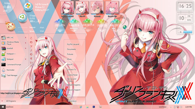 Windows 8/8.1 Theme Darling in the FranXX by Enji Riz