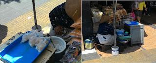 Ibu penjual es gempol pleret di pasar Gede Solo