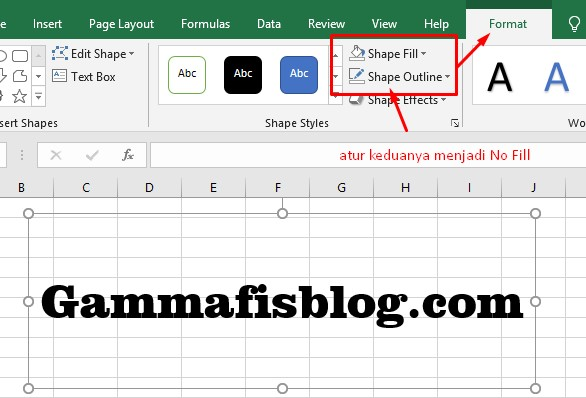 Mengatur Warna Shapes di Excel