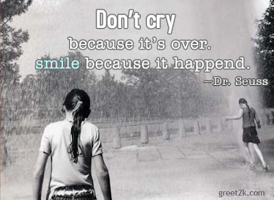 power of positive thinking quotes: because it's over. smile because it append.
