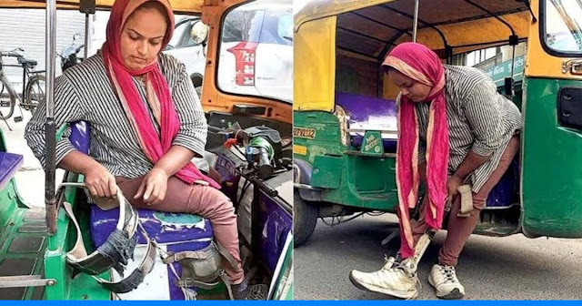 She has no legs since childhood but takes care of her family by driving an auto