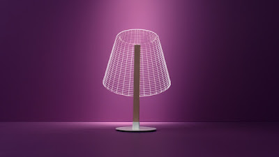 3D led lamps with wooden stand