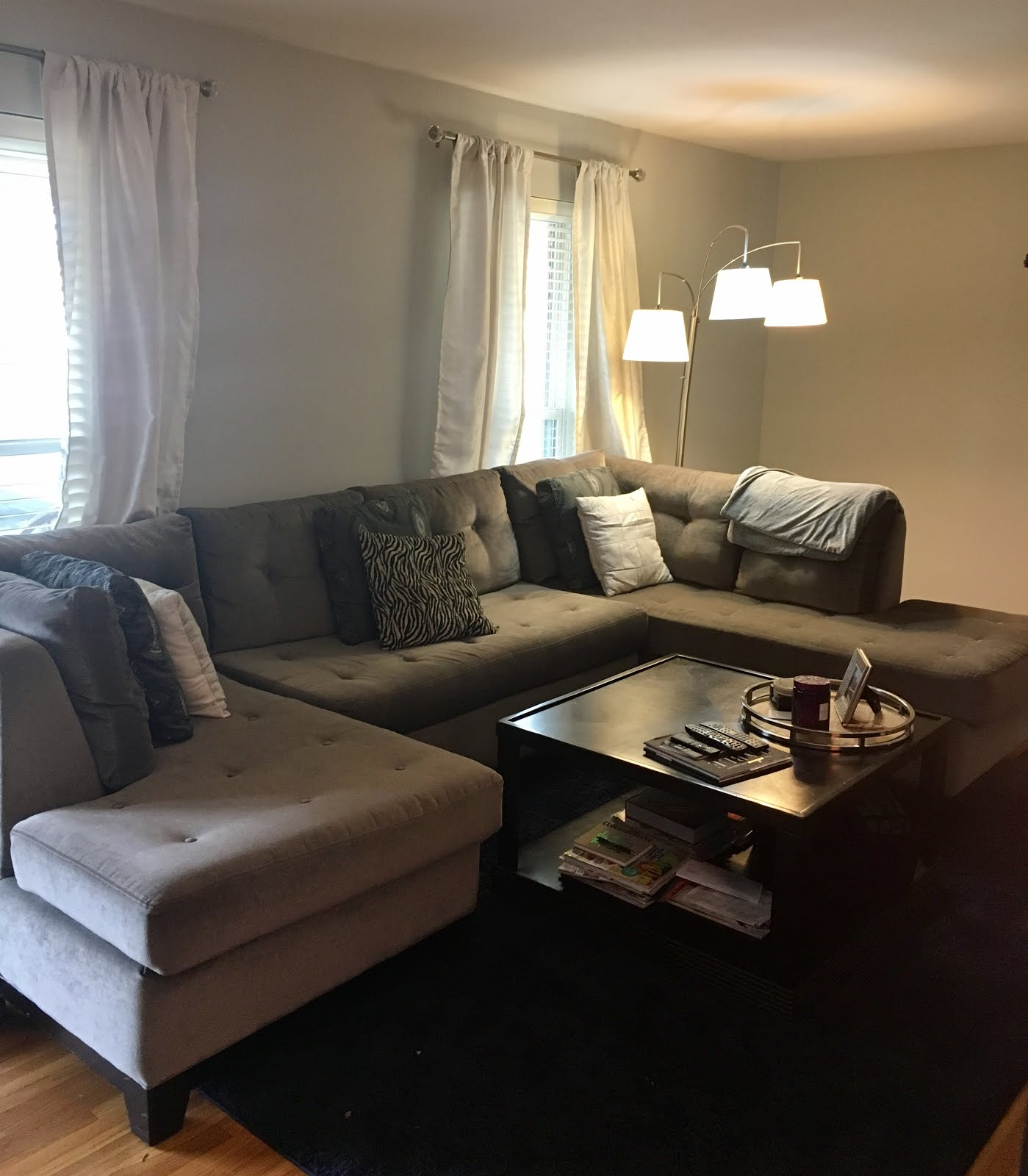 Living Rooms Painted Gray: Living Room Paint Update
